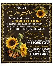 """Never feel that U r alone Mom-to-Daughter Fleece Blanket - 50"""" x 60"""" front"""