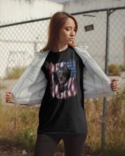 American Flag Doberman pinscher Classic T-Shirt apparel-classic-tshirt-lifestyle-07