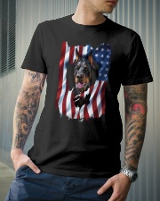 American Flag Doberman pinscher Classic T-Shirt lifestyle-mens-crewneck-front-6
