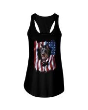 American Flag Doberman pinscher Ladies Flowy Tank thumbnail