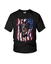American Flag Doberman pinscher Youth T-Shirt thumbnail