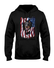 American Flag Doberman pinscher Hooded Sweatshirt thumbnail