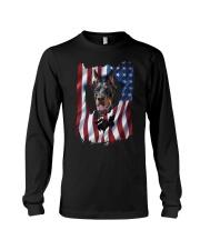 American Flag Doberman pinscher Long Sleeve Tee thumbnail
