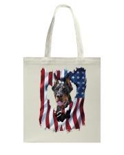 American Flag Doberman pinscher Tote Bag thumbnail