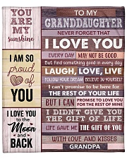 "Never Forget That ILove U-GrandPa To Granddaughter Fleece Blanket - 50"" x 60"" front"