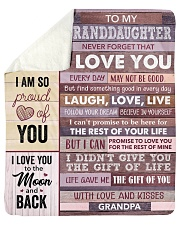 Never Forget That ILove U-GrandPa To Granddaughter Sherpa Fleece Blanket tile