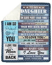 Wherever Your Journey In Life Dad To Daughter  Sherpa Fleece Blanket tile
