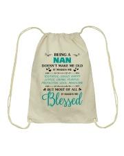 Being A Nan Makes Me Blessed Drawstring Bag thumbnail