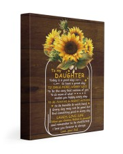 Today Is A Good Day  Dad To Daughter 11x14 Gallery Wrapped Canvas Prints front
