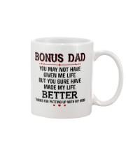 Bonus Dad Thank for putting up with Mom Mug thumbnail