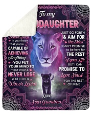 """I Want U To Belive Deep Lion To Granddaughter Sherpa Fleece Blanket - 50"""" x 60"""" thumbnail"""