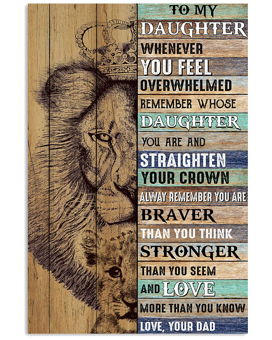 Daughter Lion Remember Straighten Your Crown 11x17 Poster