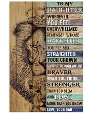 Daughter Lion Remember Straighten Your Crown 11x17 Poster front