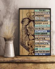 Daughter Lion Remember Straighten Your Crown 11x17 Poster lifestyle-poster-3
