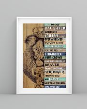 Daughter Lion Remember Straighten Your Crown 11x17 Poster lifestyle-poster-5