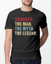 Grandpa The Man The Myth The Legend Classic T-Shirt lifestyle-mens-crewneck-front-13