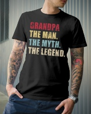Grandpa The Man The Myth The Legend Classic T-Shirt lifestyle-mens-crewneck-front-6