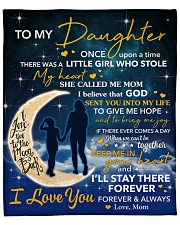 """I Will Stay There Forever Halfmoon Mom To Daughter Fleece Blanket - 50"""" x 60"""" front"""