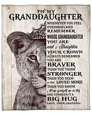 "Lion - Whenever U Feel  Grandma-Granddaughter Fleece Blanket - 50"" x 60"" front"