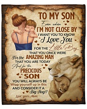 """Even When Im Not Close By Lion Mom To Son Fleece Blanket - 50"""" x 60"""" front"""