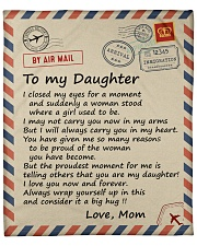 """I closed my eyss for a moment Mom-To-Daughter Fleece Blanket - 50"""" x 60"""" front"""