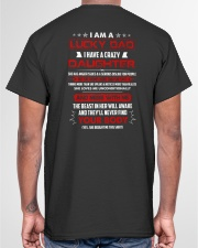 I Am A Lucky Dad Have A Crazy Daughter Classic T-Shirt garment-tshirt-unisex-back-04