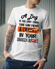 A Dog Is The Only Thing Classic T-Shirt lifestyle-mens-crewneck-front-6