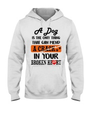 A Dog Is The Only Thing Hooded Sweatshirt thumbnail