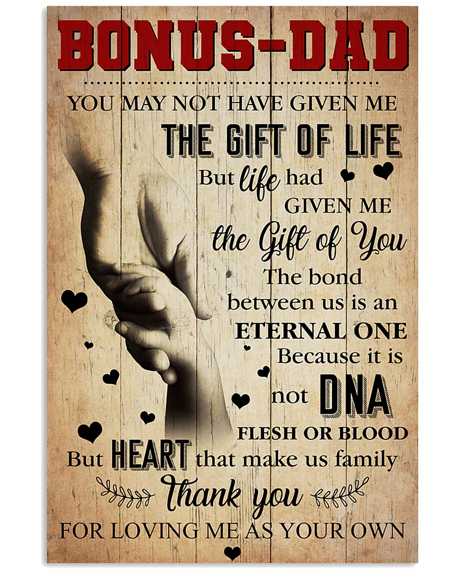 Bonus Dad - Thank you for loving me as your own 11x17 Poster