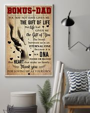 Bonus Dad - Thank you for loving me as your own 11x17 Poster lifestyle-poster-1