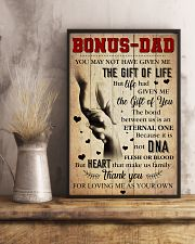Bonus Dad - Thank you for loving me as your own 11x17 Poster lifestyle-poster-3