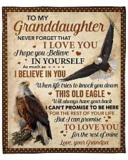 "Never Forget That I Love U Eagle To Granddaughter  Fleece Blanket - 50"" x 60"" front"