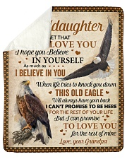 """Never Forget That I Love U Eagle To Granddaughter  Sherpa Fleece Blanket - 50"""" x 60"""" thumbnail"""