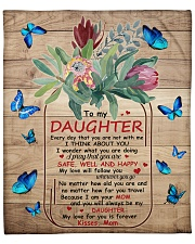 """My Love For U Is Forever Butterfly Mom To Daughter Fleece Blanket - 50"""" x 60"""" front"""