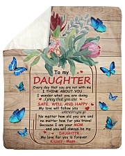 """My Love For U Is Forever Butterfly Mom To Daughter Sherpa Fleece Blanket - 50"""" x 60"""" thumbnail"""