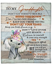 """Don't Let Today's Trouble Elephant GM To GD Fleece Blanket - 50"""" x 60"""" front"""