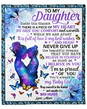 """Inside This Blanket There's Piece Mom To Daughter Fleece Blanket - 50"""" x 60"""" front"""