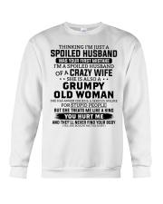 I'm A Spoiled Husband Of A Crazy Wife Crewneck Sweatshirt thumbnail