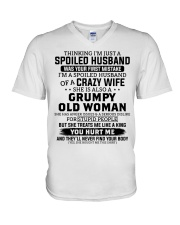 I'm A Spoiled Husband Of A Crazy Wife V-Neck T-Shirt thumbnail