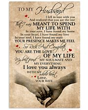 To My Husband You Are The Love Of My Life 11x17 Poster front