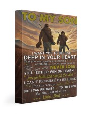 I Want U To Believe Deep In Your Heart Dad To Son 11x14 Gallery Wrapped Canvas Prints front