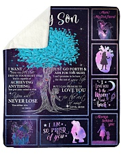 "I Can Promise To Love U Tree Mom To Son Sherpa Fleece Blanket - 50"" x 60"" thumbnail"