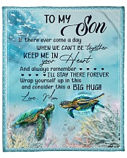 """Turtle - If there ever come a day Mom-To-Son Fleece Blanket - 50"""" x 60"""" front"""