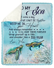 Turtle - If there ever come a day Mom-To-Son Sherpa Fleece Blanket tile