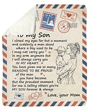 """I Close My Eyes For But A Moment Mom To Son Sherpa Fleece Blanket - 50"""" x 60"""" thumbnail"""