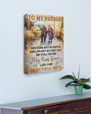 Our Home Ain't No Castle Wife To Husband 16x20 Gallery Wrapped Canvas Prints aos-canvas-pgw-16x20-lifestyle-front-01