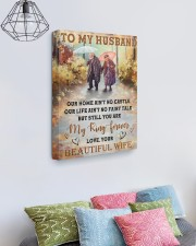 Our Home Ain't No Castle Wife To Husband 16x20 Gallery Wrapped Canvas Prints aos-canvas-pgw-16x20-lifestyle-front-02