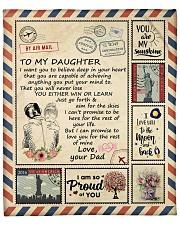 "Im So Proud Of You Dad To Daughter Fleece Blanket - 50"" x 60"" front"