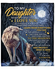 """Never Forget That I Love U Wolf Mom To Daughter Fleece Blanket - 50"""" x 60"""" front"""