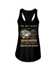 To My Wife I Love You Forever And Always Ladies Flowy Tank thumbnail